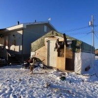 One example of the sub-standard housing at Attawapiskat.