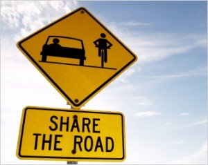 Share the road! (Image via The Bike Lane)