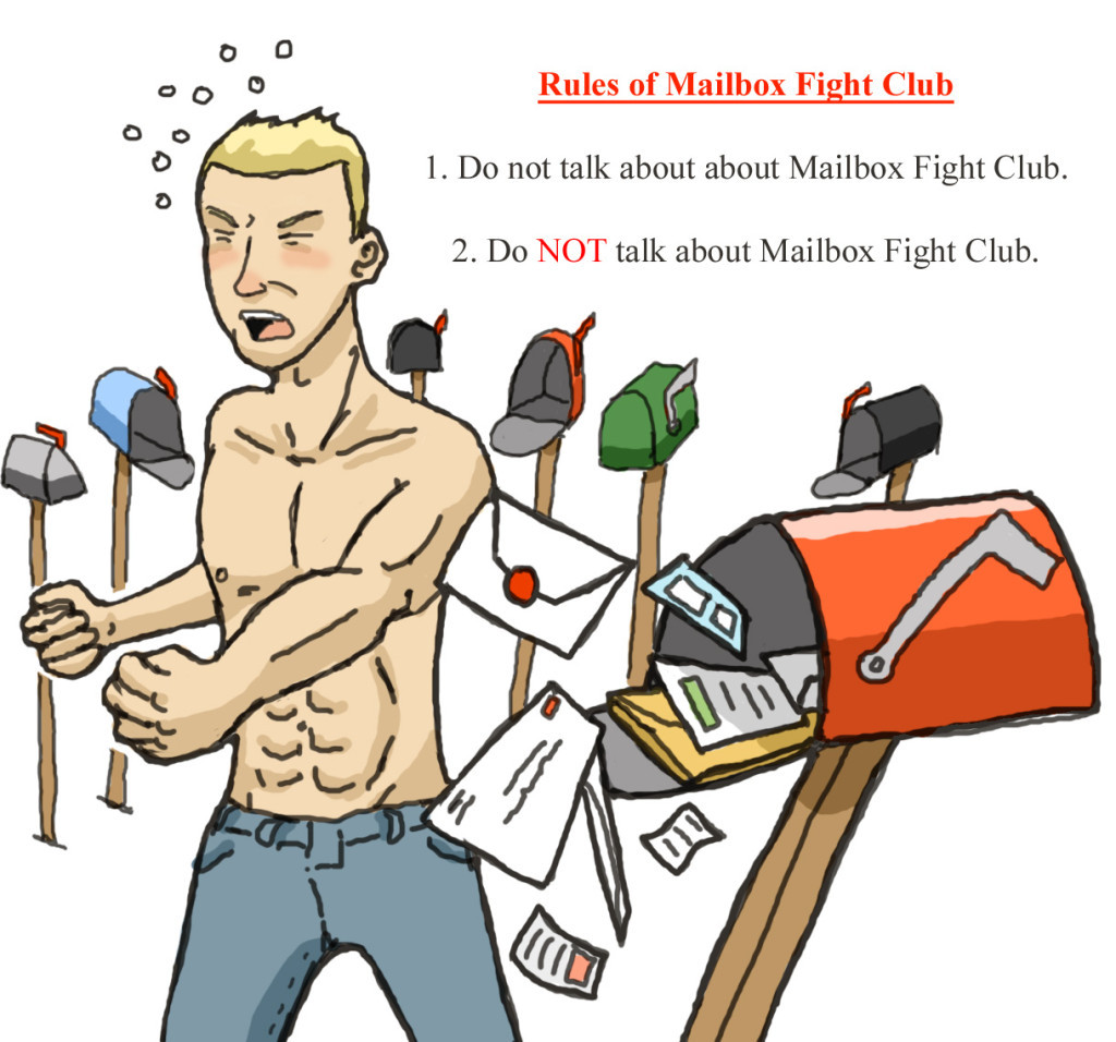 mailbox fight club