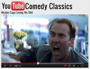 Nicholas Cage Looses his shit for sharok