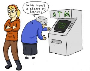 old people cant bank copy