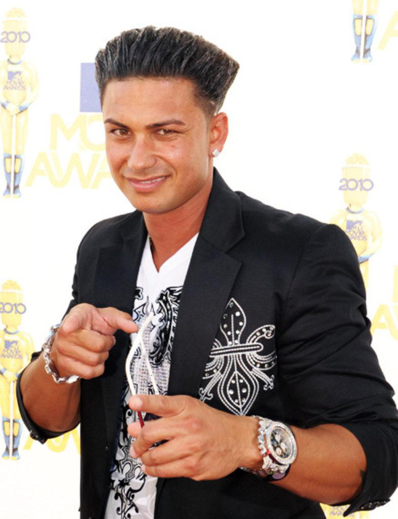 Pauly D of the Jersey Shore no longer a douche bag, now he is a certified cretin.