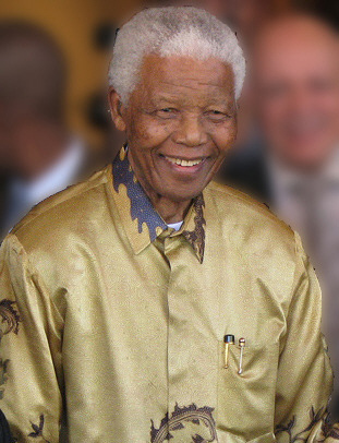 Nelson Mandela. Image from South Africa The Good News (Wiki Commons)