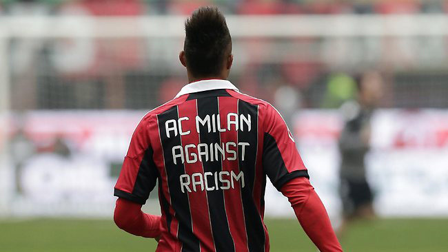 Image from AP of AC Milan midfielder Kevin Prince Boateng.