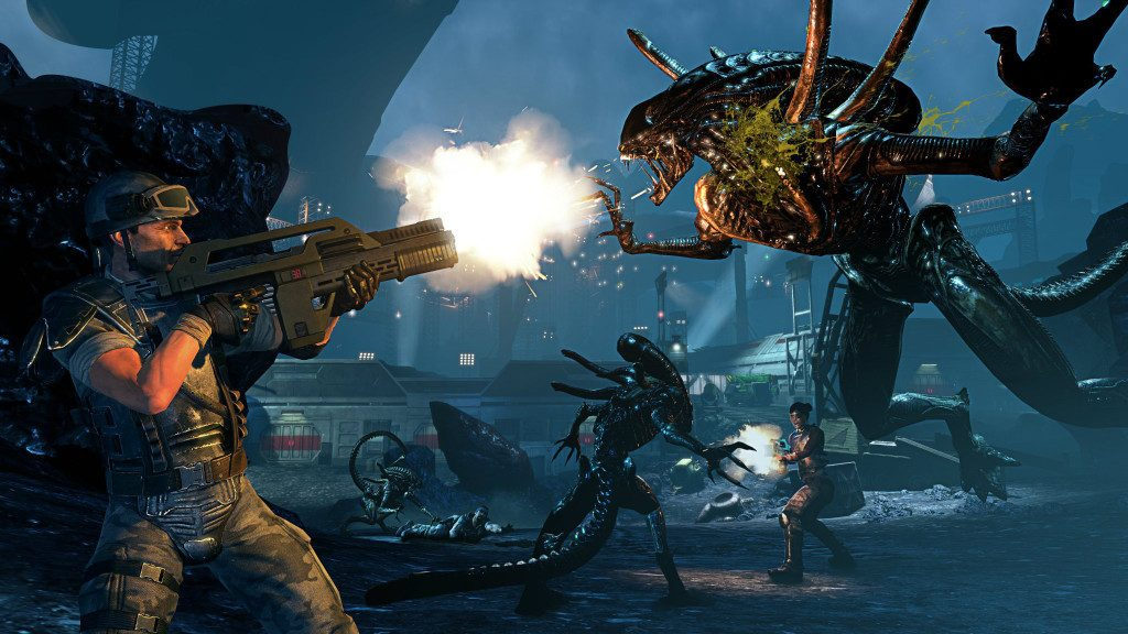 """Screencapture from """"Aliens: Colonial Marines."""""""
