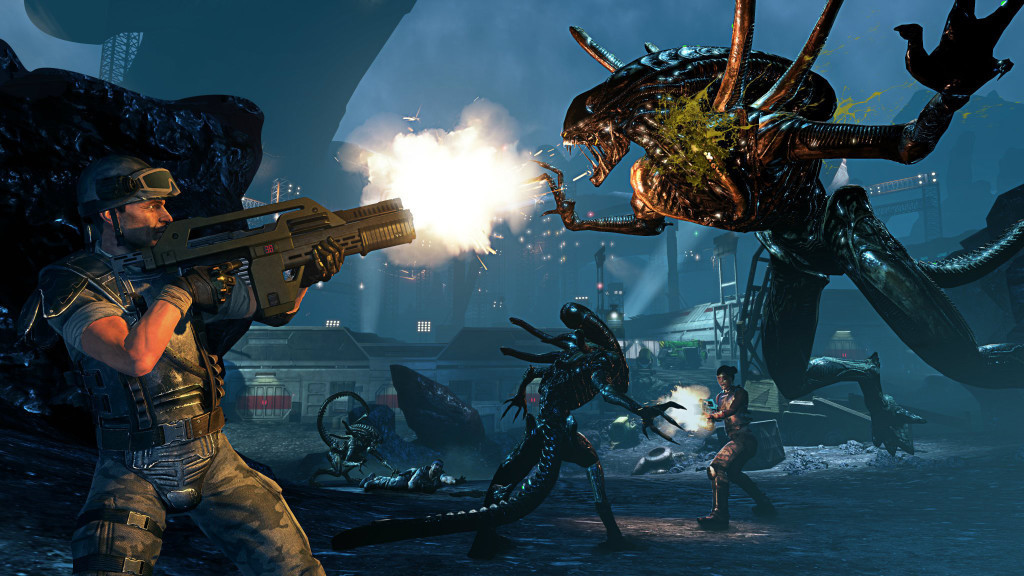 "Screencapture from ""Aliens: Colonial Marines."""
