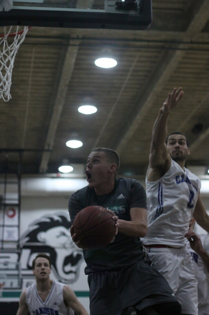 Photo from the Royals' men's basketball game on Saturday November 8, against Camosun. Photo by Eric Wilkins