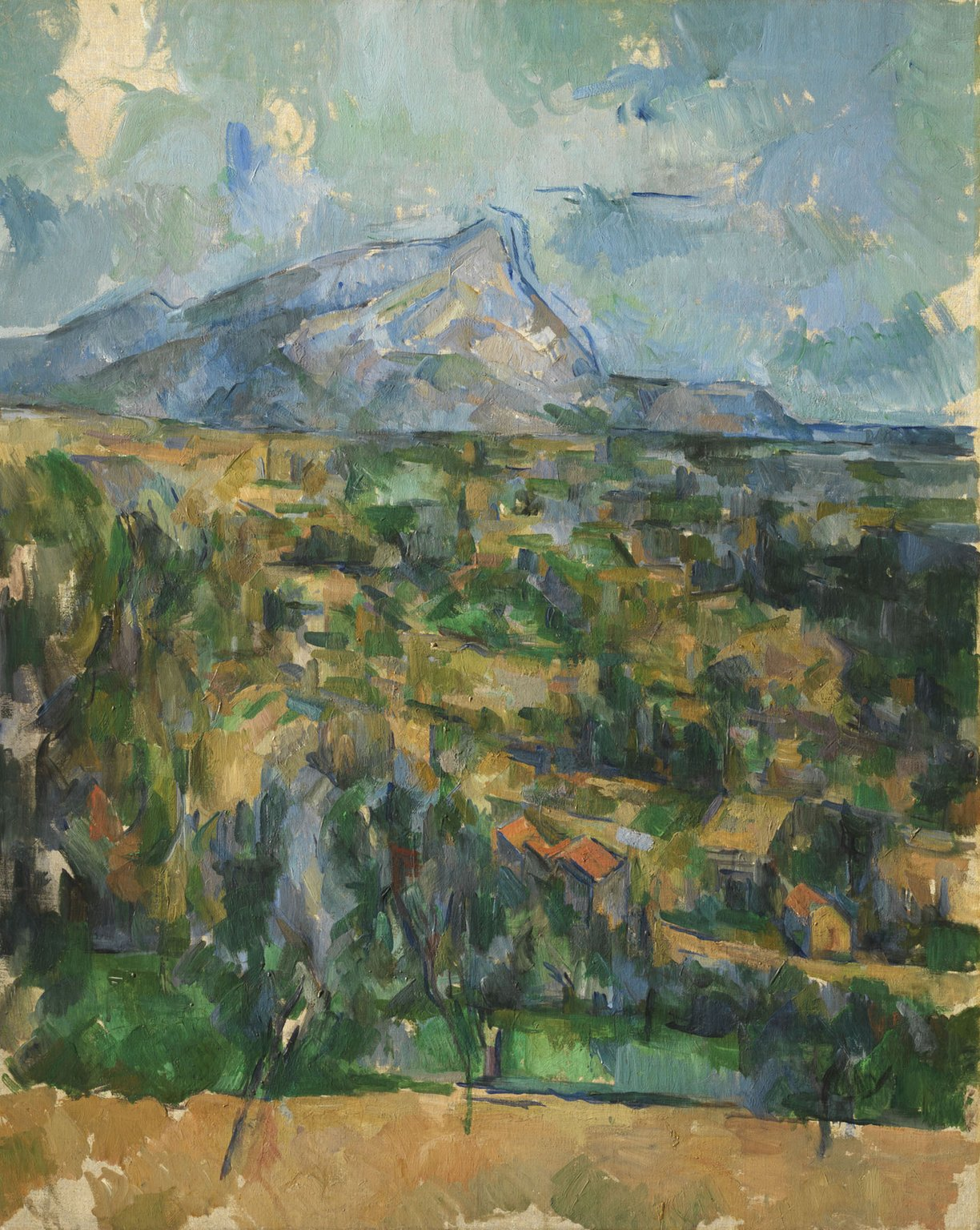 Mont Sainte-Victoire, ca. 1904–06; Oil on canvas; The Henry and Rose Pearlman Foundation, on long-term loan to the Princeton University Art Museum