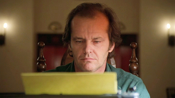 Still of Jack Nicholson in The Shining. Image by Warner Brothers