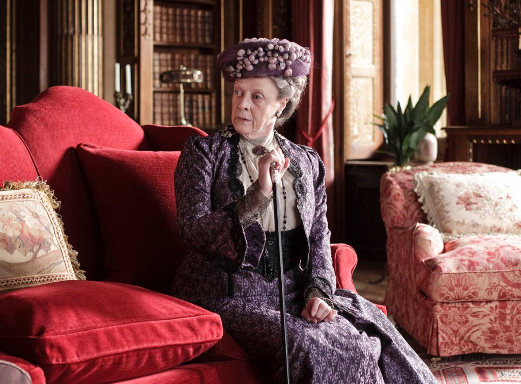 Still of Maggie Smith in Downton Abbey (2010)--photo by Nick Briggs