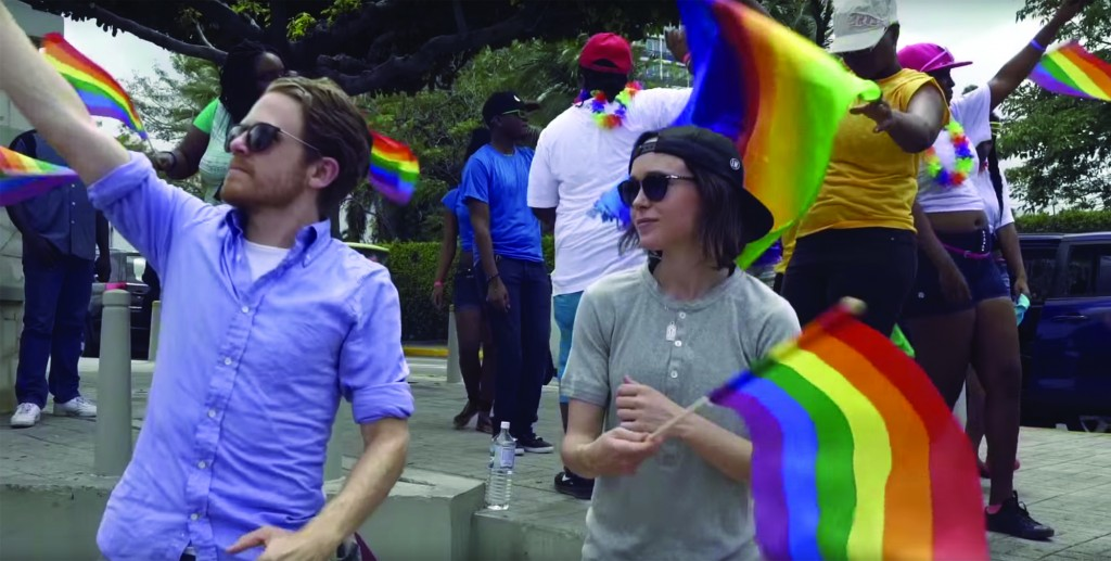"""Screenshot from """"Gaycation"""" trailer"""