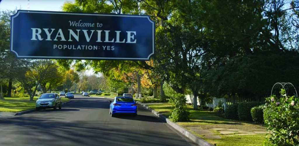 Screenshot from 'Ryanville' Hyundai commercial