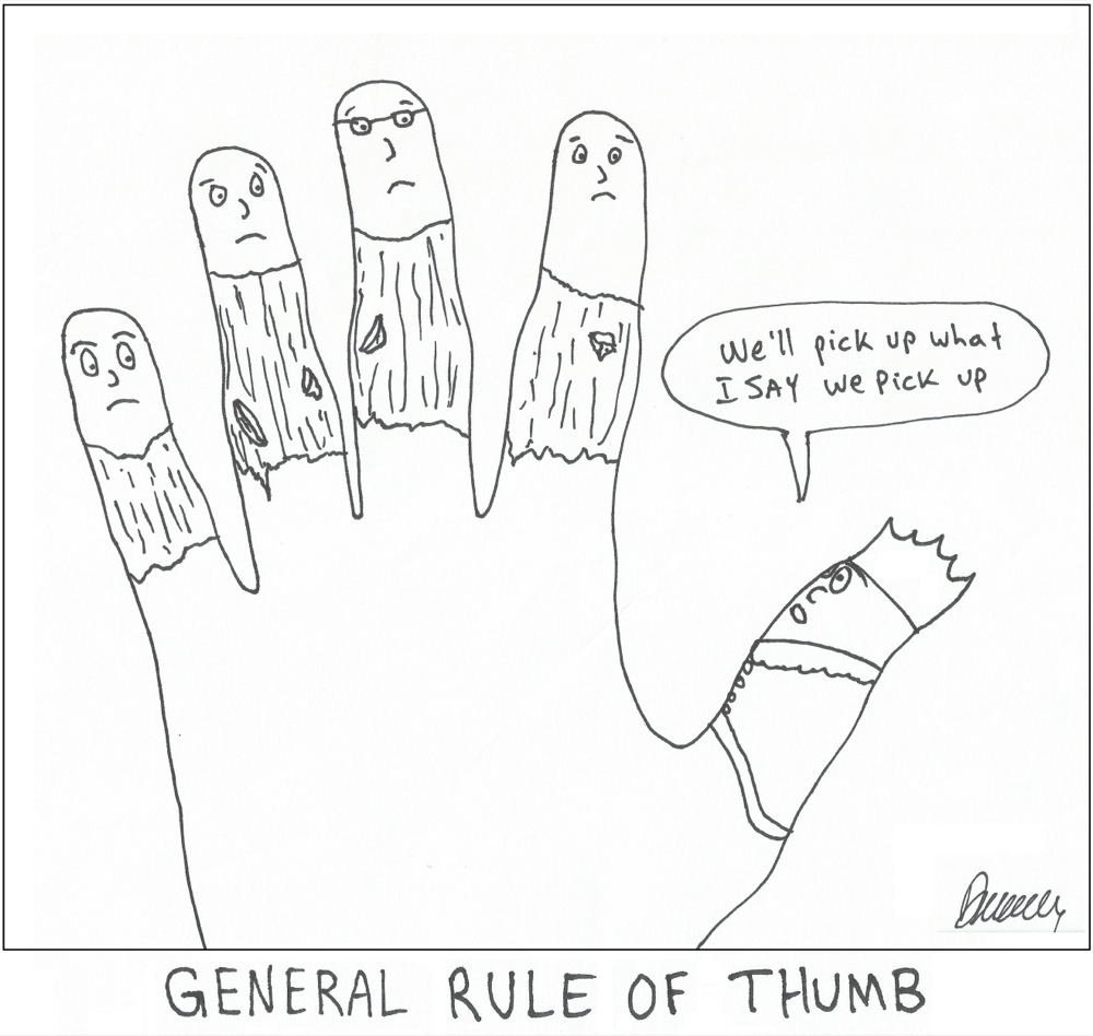 A general rule of thumb the