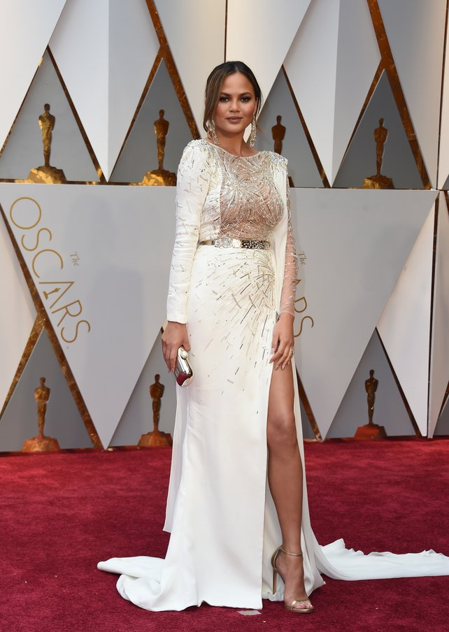 Chrissy Teigen in Zuhair Murad via rasset.ie