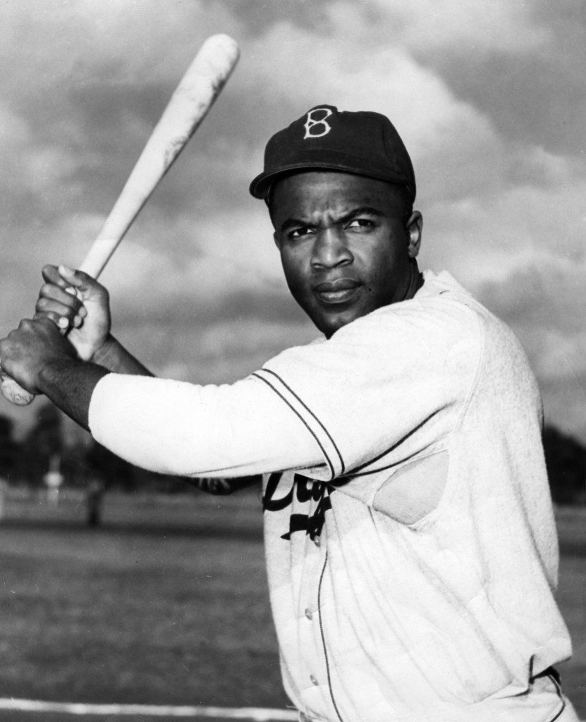 Photo of Jackie Robinson via sabr.org