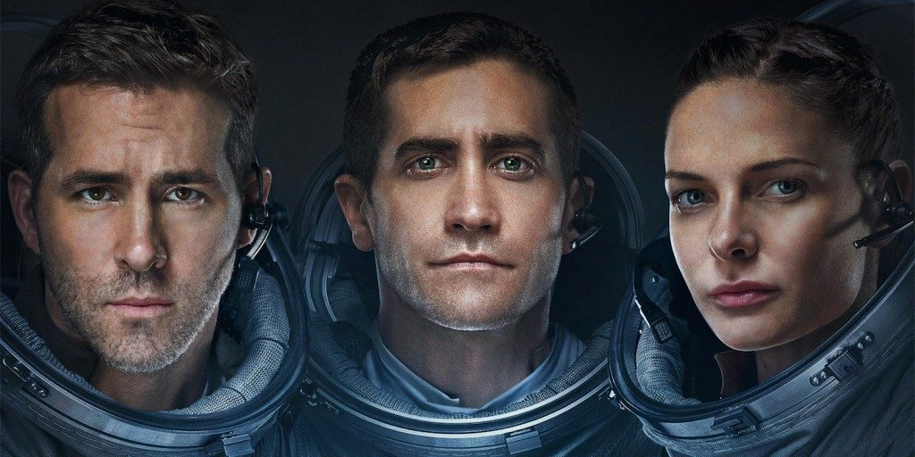 Ryan Reynolds, Jake Gyllenhaal, and Rebecca Ferguson in Life via Sony Pictures
