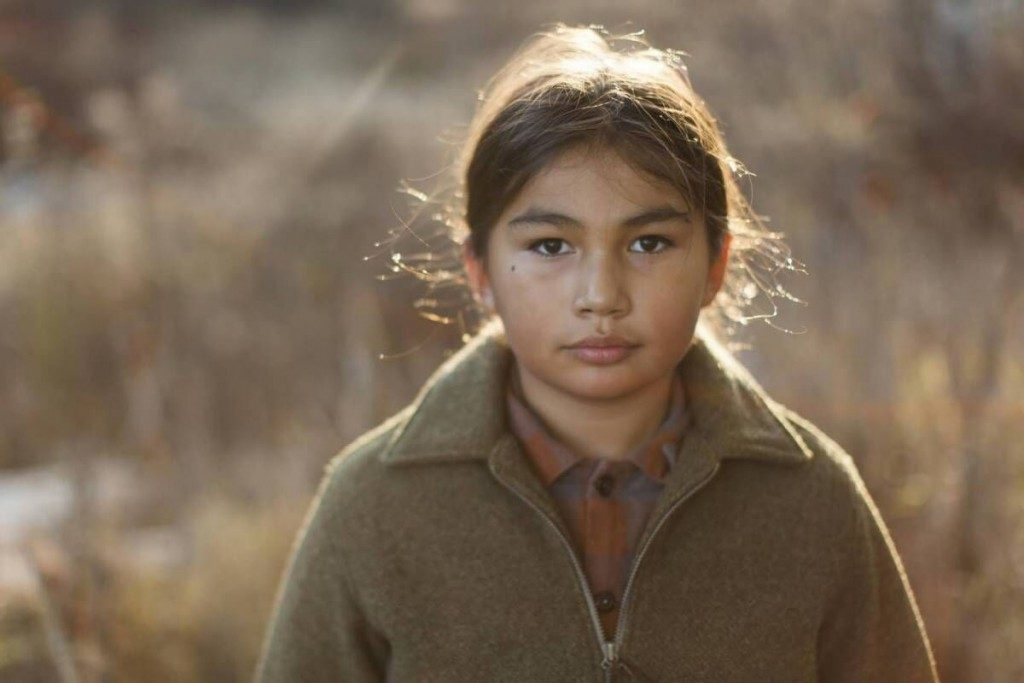 Actor Sladen Peltier stars as a young Saul in the film Indian Horse
