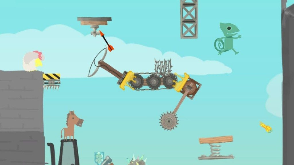 Screenshot from 'Ultimate Chicken Horse'