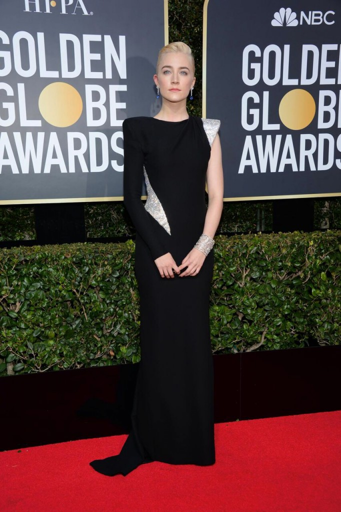 Photo of Saoirse Ronan wearing Atelier Versace via Shoko.fr