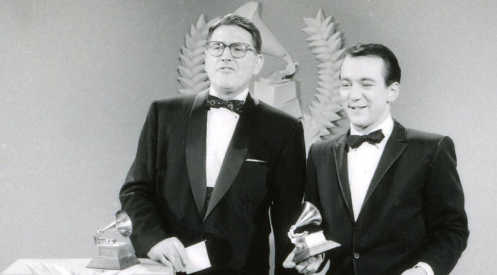 Image of Meredith Willson and Bobby Darin via Grammy.com