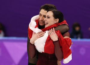 Photo of Tessa Virtue and Scott Moir by Maddie Meyer via Getty Images