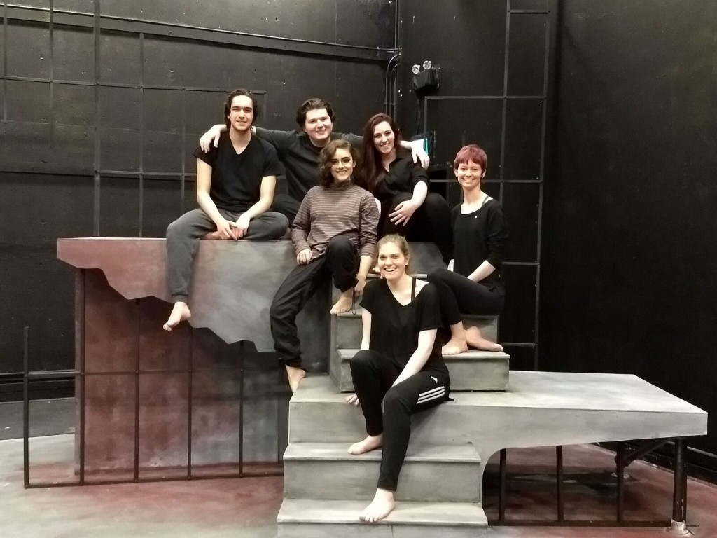 Photo of 'Antigone' cast by Caroline Ho