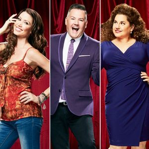 Photos of Shannon Elizabeth, Ross Mathews, and Marissa Jaret Winokur by Cliff Lipson for CBS
