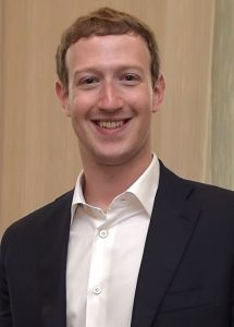 Photo of Mark Zuckerberg via Wikimedia Commons