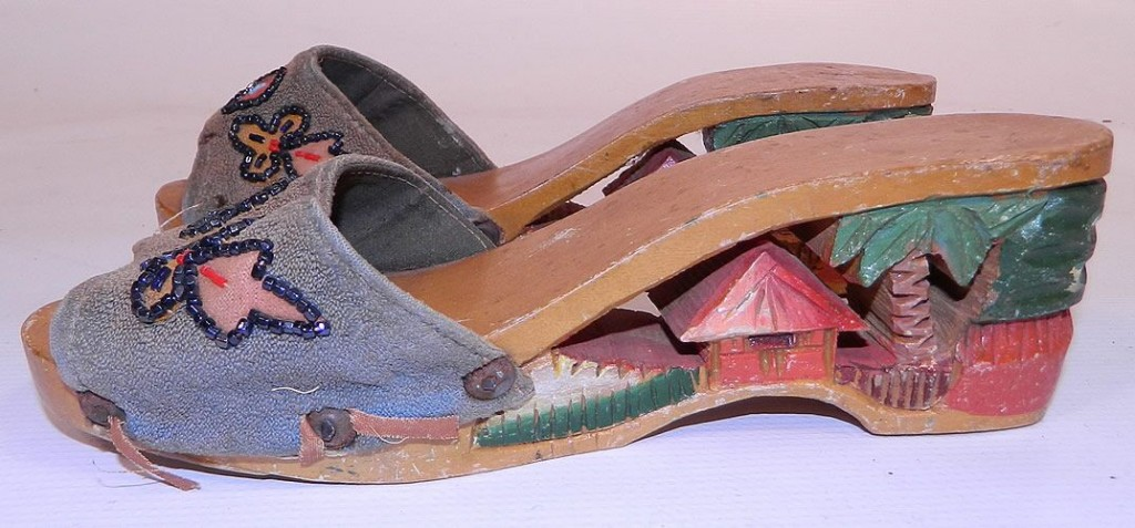 Photo of vintage sandals from the Phillipines via 1860-1960.com